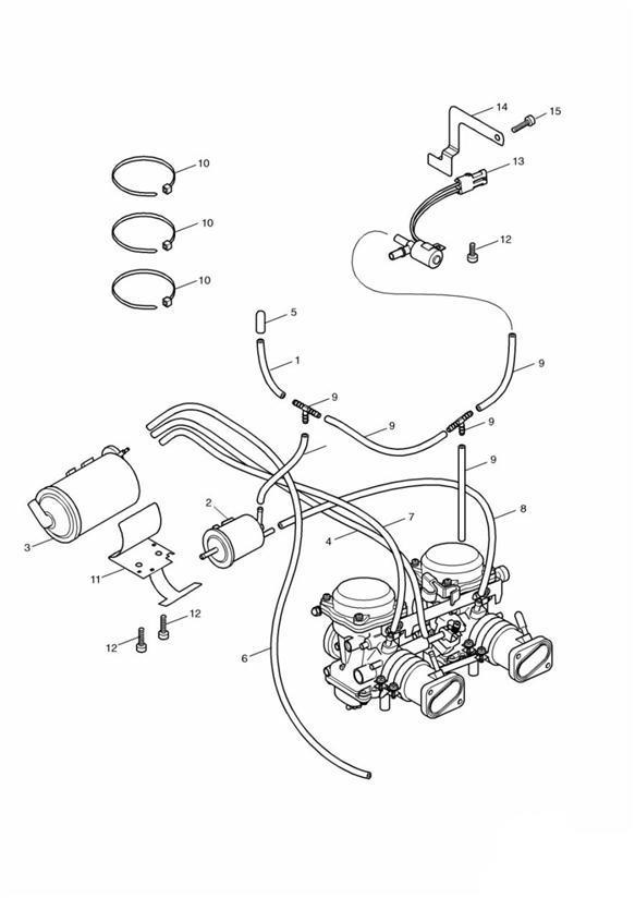 2004 Triumph Bonneville Hose  System  Loss  Fuel