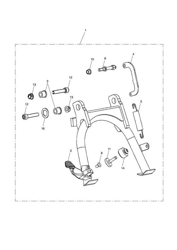 2005 Triumph Bonneville Stop Rubber  Engine  Kit
