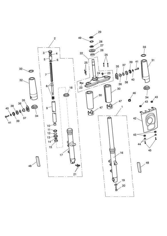 2012 triumph rocket iii collar  spring  yokes  suspension  front  forks