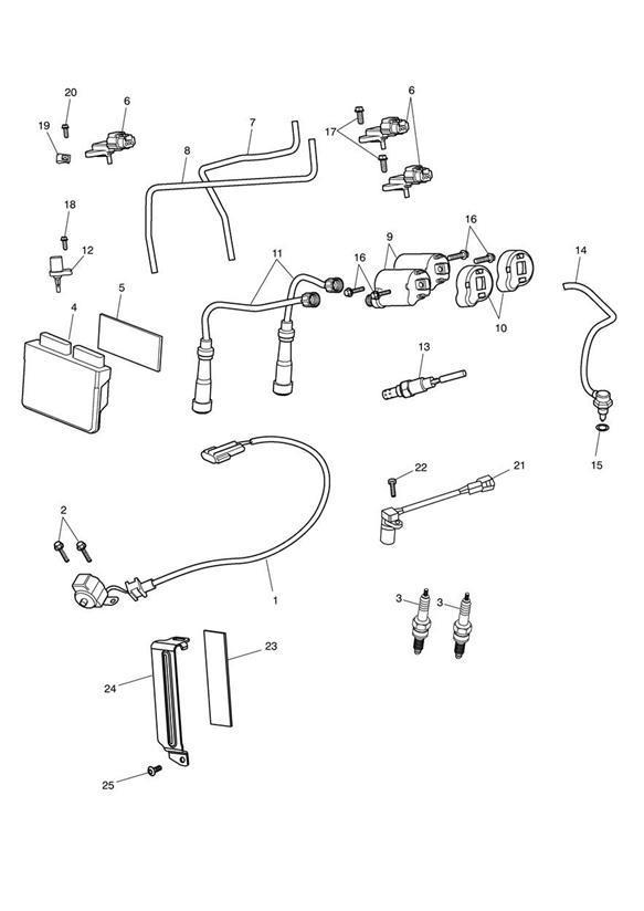 2014 Triumph Speedmaster Sensor  Ignition  V-grommet
