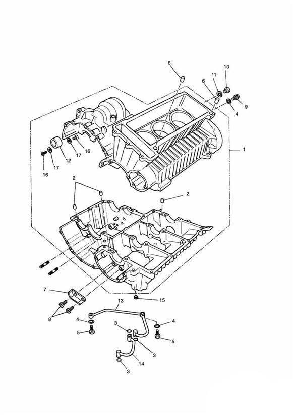 1994 Triumph Sprint Oil Deflector Plate  Crankcase  Engine