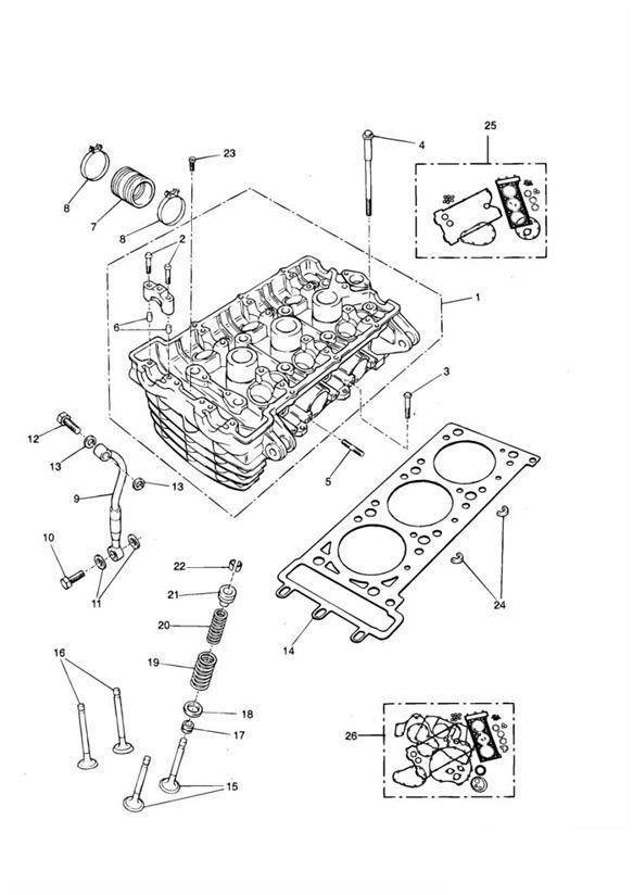 2004 Triumph Thunderbird Valve Spring Inner  Engine  Eng