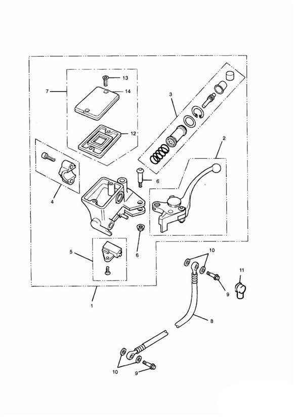 2016 Triumph Thunderbird Master Cylinder Assembly