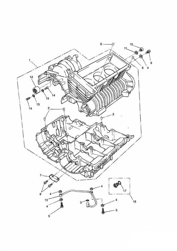 2000 Triumph Thunderbird Crankcase  Engine  Eng  Cyl