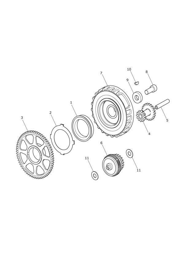 2017 triumph tiger gear  u0026 sprag hub  starter  transmission  gears  drive