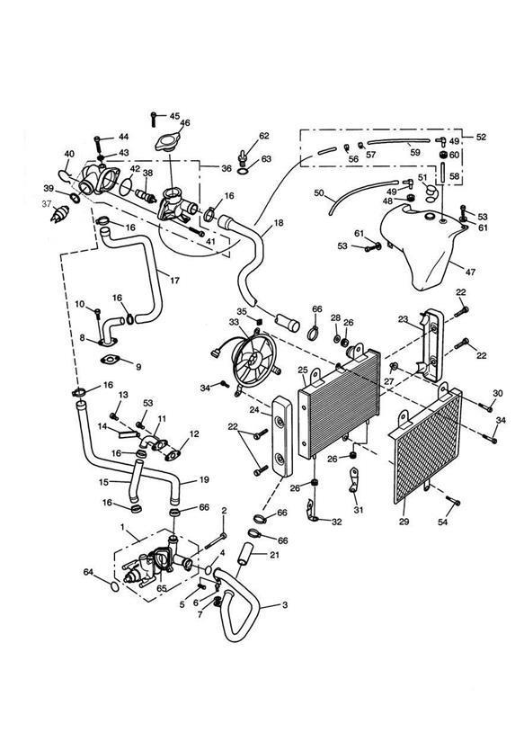 1998 Triumph Adventurer Bolt  Cooling  System  Engine