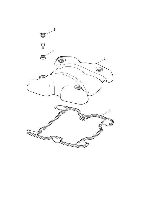 2017 Triumph Bonneville Bobber Cam Cover  Graphite  Engine