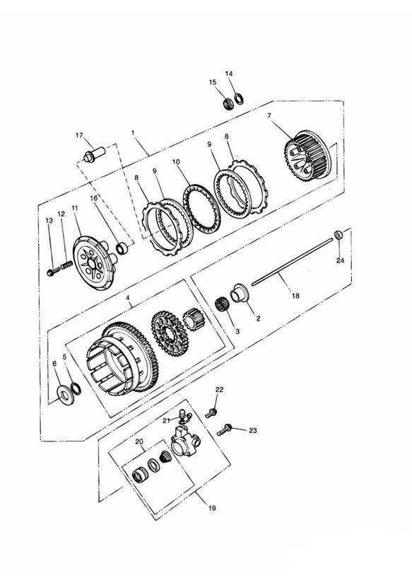 1996 Triumph Adventurer Shim  Clutch  Thick  Engine
