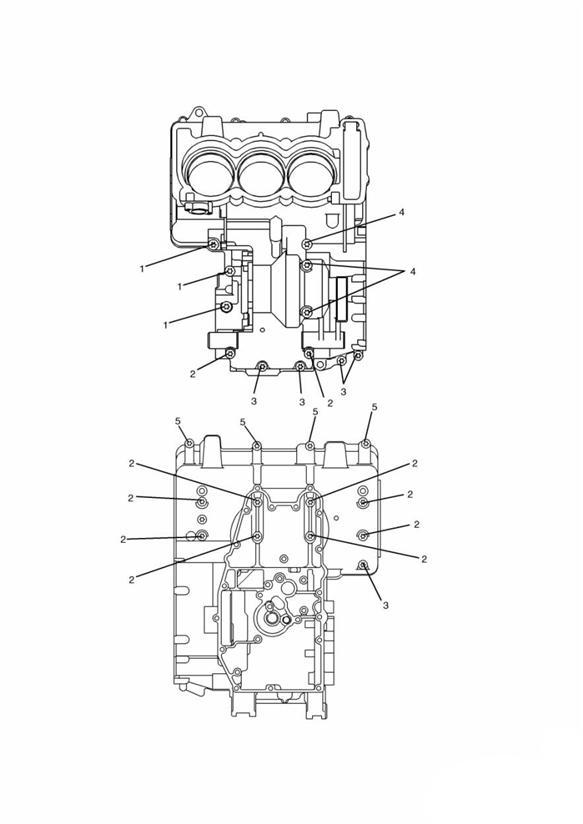 2005 Triumph Daytona Screw  M8 X 65mm Black Engine No