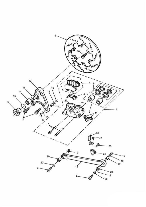 1992 Triumph Daytona Screw  Torx  Pan Head  M6 X 1 X 16