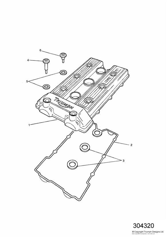1994 Triumph Trident Seal Set  Cam  Cover  Engine